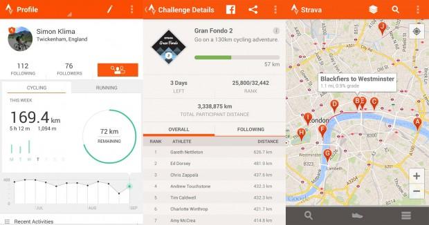 Strava app android sportiva